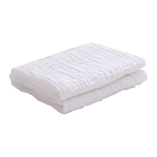 "Baby/Kids Soft Absorbent Cotton Bath Towel Newborns Blanket 0-3 Years 45.27""x45.27""(White-1)"