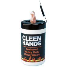 Heavy Duty Textured Hand Wipes - Tub Of 50