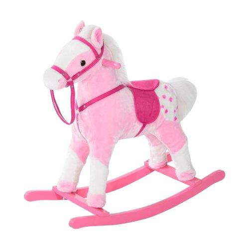 Homcom Pink Rocking Horse | Kids' Horse Rocker