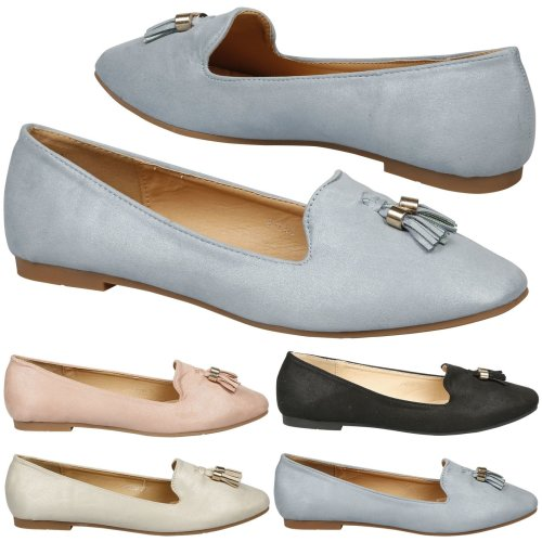Berklee Womens Flat Cushioned Low Cut Tassel Loafers