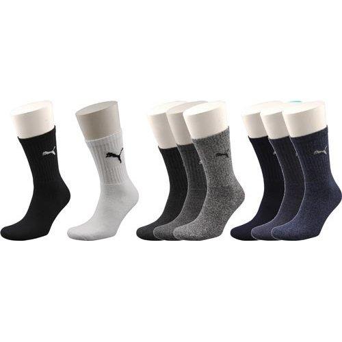 Uk 6-8 Grey Pack Of 3 Puma Sports Socks - Crew Pair Menswomens -  socks puma 3 sports crew pack pair grey menswomens