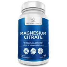 Nutribioticals Magnesium Citrate 200mg 180 Tablets - 6 Month Supply