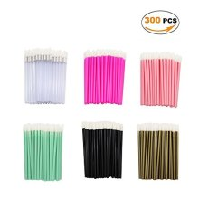 300cs Disosable Li Brush Li Gloss Wands Listick Alicators Makeu Tool, Multicolored