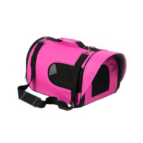 Pet Carrier Soft Sided Travel Bag for Small dogs & cats- Airline Approved, Pink #45