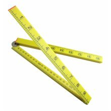 1m Toolzone Folding Plastic Rule - 3ft Easy Read Ruler Metric Imperial Markings -  1m folding plastic 3ft easy read ruler metric imperial markings