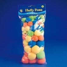 Pbx2470008 - Playbox - Fluffy Poms (neon -mix 1) - 100 Pcs