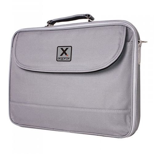 "Approx (APPNB15G) 15.6"" Laptop Carry Case, Multiple Compartments, Padded, Grey, Retail"