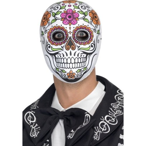 Adult's Day Of The Dead Mask -  mask senor bones fancy dress day dead halloween adult accessory