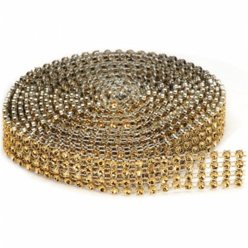 Bling On A Roll 3mmX3yd-4 Rows, Gold