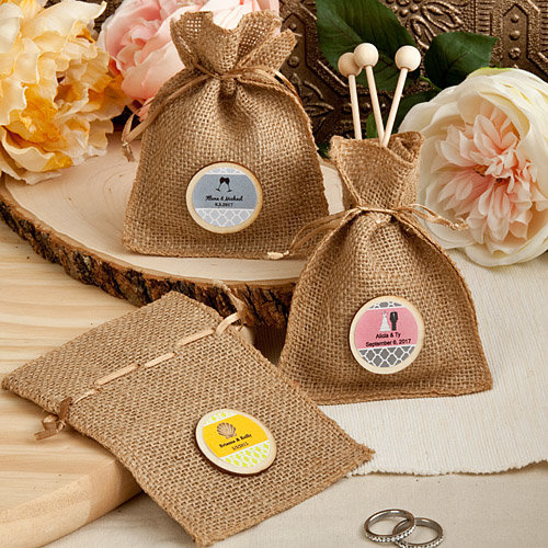 Personalisable Burlap Treat Bags