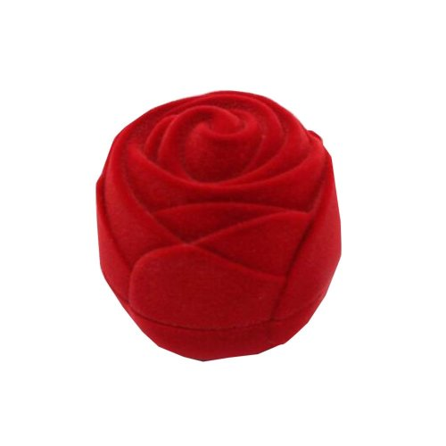 Set of 2 Home Jewelry Box Unique Earrings Storage Case Rose [Red]