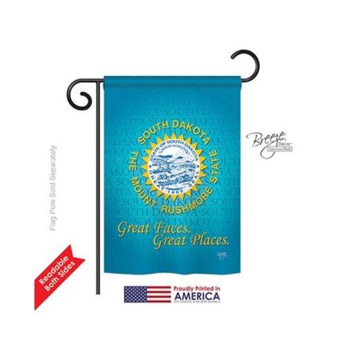Breeze Decor 58146 States South Dakota 2-Sided Impression Garden Flag - 13 x 18.5 in.