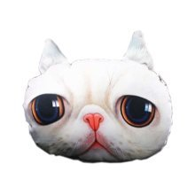 3D Cute Pet Dogs and Cats Face Head Pillow, Beautiful Cat