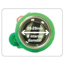 Silver 12v Cigarette Lighter Power Socket With Green Illumination - Lampa Eu 12 -  lampa cigarette lighter eu 12 v eurostyle illuminated socket 12v