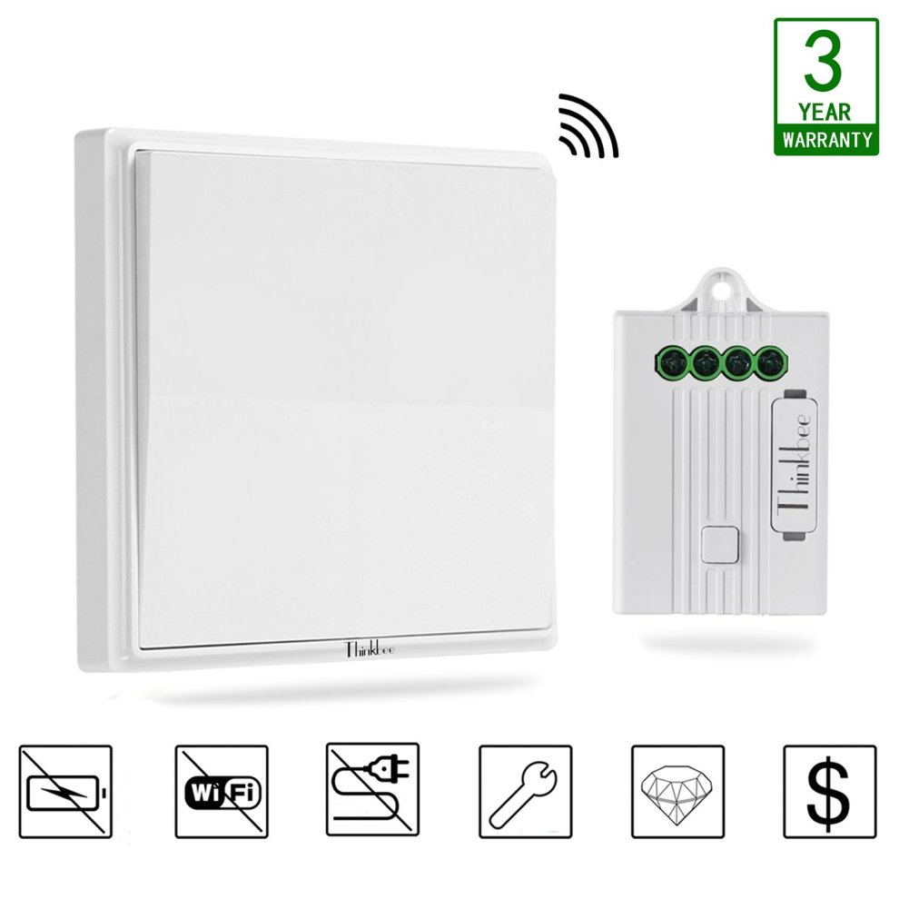 Surprising Thinkbee Wireless Light Switch Kit No Battery No Wiring No Wifi Wiring Cloud Hisonuggs Outletorg