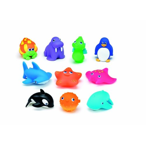 10 Bath Toys Squitin Sea Animals Bath Water Squirters For Toddlers