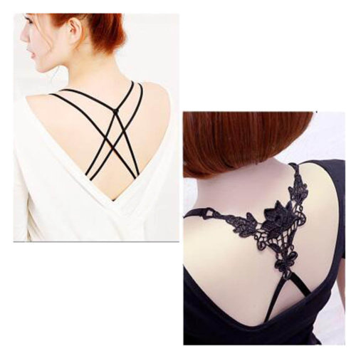 Women Underwear Shoulder Strap Back Cross Bra Straps(2 Pairs), Set I