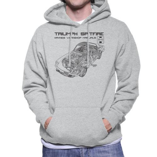 Haynes Owners Workshop Manual 0113 Triumph Spitfire Black Men's Hooded Sweatshirt