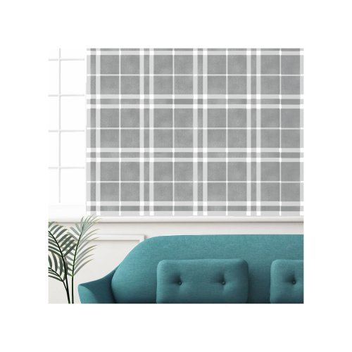 Kilmuir Check Furniture Floor Wall Stencil for Painting