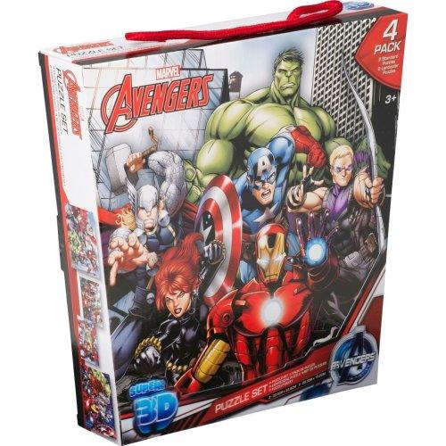 Avengers 4 Pack Lenticular Puzzle