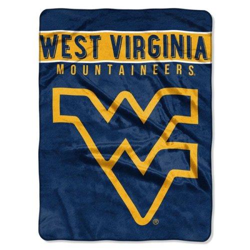 MKW 8791885384 60 x 80 West Virginia Mountaineers Raschel Basic Design Blanket