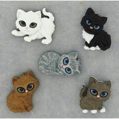 Kitten Kaboodle - Novelty Craft Buttons & Embellishments by Dress It Up