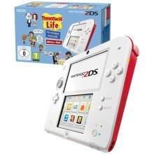 Nintendo 2DS Console Red and White + Tomodachi Life Game Pre-installed