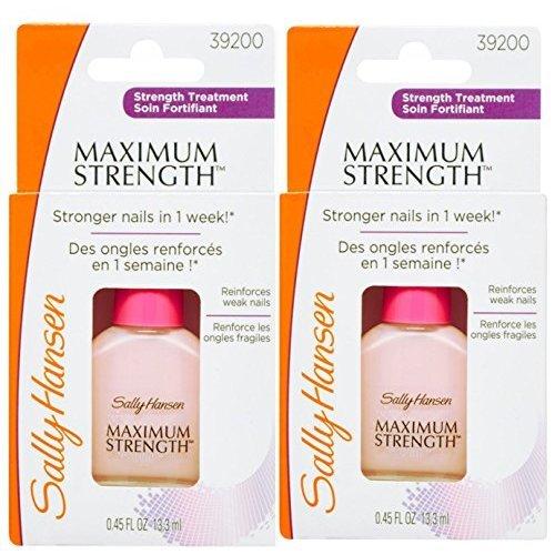Sally Hansen Maximum Strength Nail Hardener Light Pink - Pack of 2