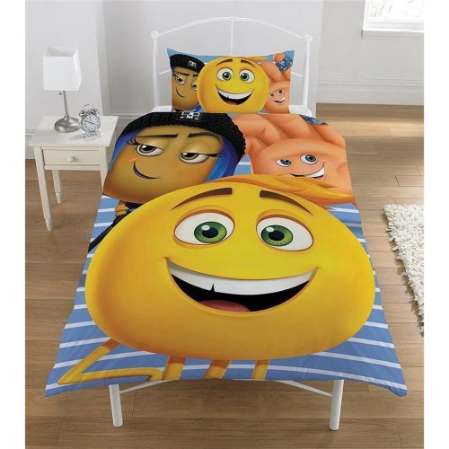 The Emoji Movie Reversible Single Duvet Cover Set