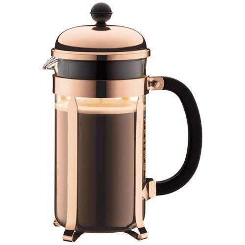 BODUM Chambord 8 Cup French Press Coffee Maker, Copper, 1.0 l, 34 oz