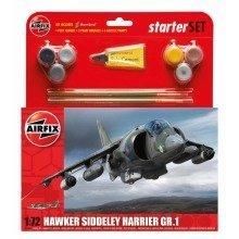Air55205 - Airfix Medium Starter Set - Hawker Harrier Gr1 1:72