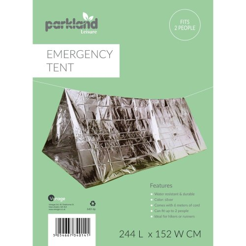 Emergency Survival Foil 2 Person Portable Tent Cover Shelter Camping Hiking