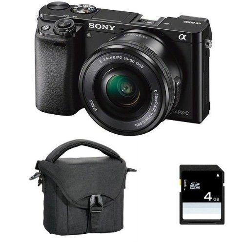 Sony A6000 Camera With 16-50mm Lens, Bag & 4GB SD Card Bundle