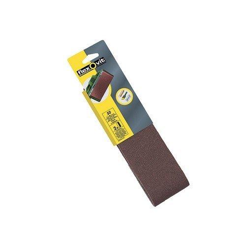 Flexovit 63642526790 Cloth Sanding Belts 533mm x 75mm Assorted Pack of 4