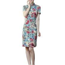 Elegant Chinese Dress Qipao Dresses Cheongsam Women Clothing Skirt XXL-11
