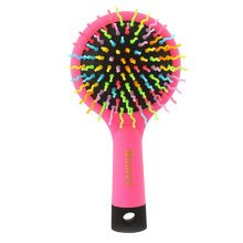 Premium Durable Rainbow Hair Comb Afro Pick Anti-static Combs, 1 PCS, Pink