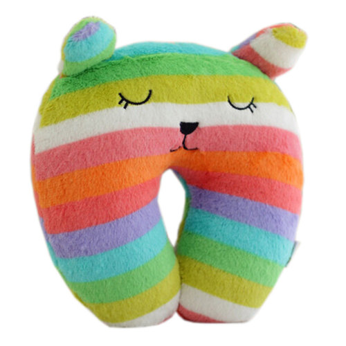 Rainbow Color U Shape Pillow Neck And Head Pillow Neck Support Pillows
