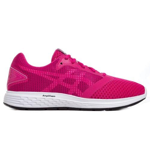 Asics Patriot 10 Kids Girls Running Fitness Training Trainer Shoe Purple/White