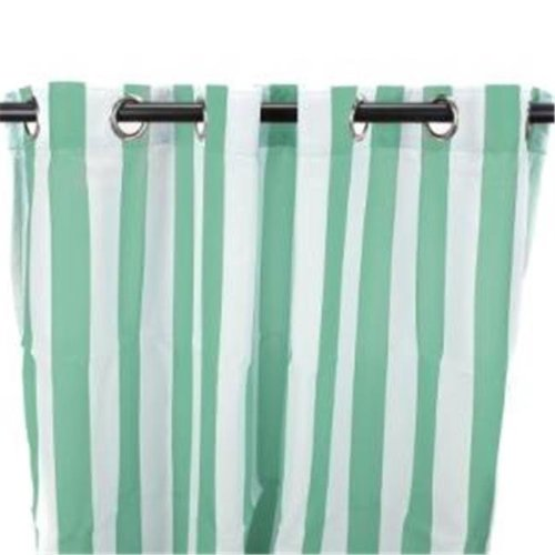 Jordan Manufacturing 3VOC5496-1334Q 54 in. x 96 in. Outdoor Curtain - Stripe Spa