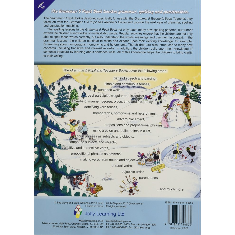 ... Grammar 5 Pupil Book: In Precursive Letters (British English edition) (Jolly  Learning. >