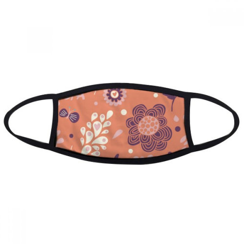 Pansy Flower Plant Paint Mouth Face Anti-dust Mask Anti Cold Warm Washable Cotton Gift