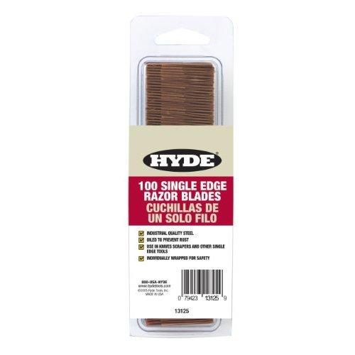 Hyde Tools 13125 Single Edge Razor Blades, 100-Pack