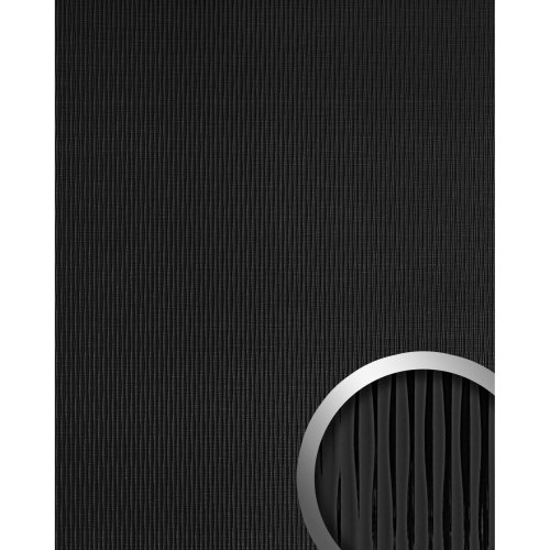 WallFace 15956 MOTION ONE Wall panel wallcovering 3D wave deco black   2.60 sqm
