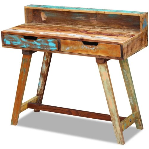 vidaXL Desk Solid Reclaimed Wood