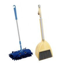 Children Housekeeping TOY Cleaning Play Set-Children Broom Dustpan Mop Suit, Yellow&Blue