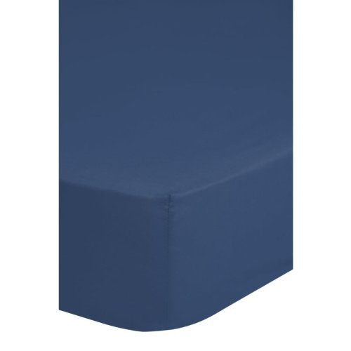 Emotion Non-iron Fitted Sheet 70x200 cm Blue 0220.24.40