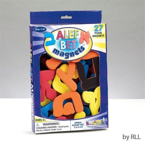 Alef Bet Foam Magnets -pack of 6