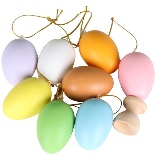 Trixes 8pc DIY Egg Decoration Pack | Hanging Plastic Easter Eggs