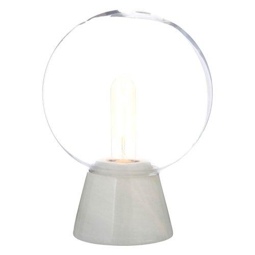 Lamonte Globe Lamp With White Marble Base