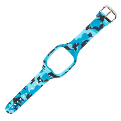 Quick Release Silicone Watch Strap Soft Rubber Smart Watch Strap Camouflage Blue